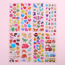 Waterproof 3D Cartoon Animal Wall sticker Bubble Stickers DIY Baby Toys for Kids Boy Girl room decoration Wall decals Stickers(China)