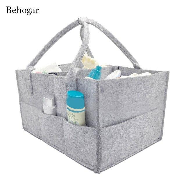 Behogar Baby Diaper Caddy Organizer Durable Carrier Felt Handbag ...
