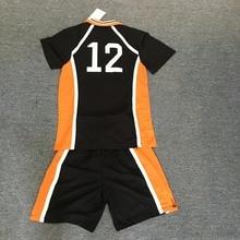 Аниме Haikyuu! Karasuno средняя школа#12 Yamaguchi Tadashi волейбольный клуб костюм для косплея Джерси Спортивная одежда форма M L XL XXL