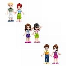 Фигурки друзей F024 том Анна Золушка Мартина принцесса друг для девочек строительные блоки детские игрушки подарок DIY Legoing друг набор