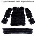 Female mult fur coats Hot selling New 2016 fashion collar fox fur coat Winter natural rex rabbit skin keep warm coat