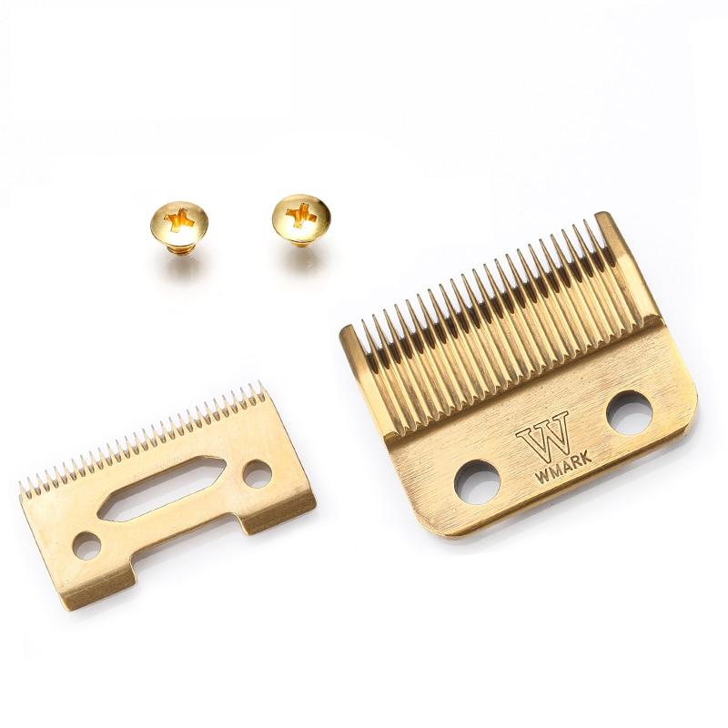 KIKI NEWGAIN WMARK Blade Professional Hair Clipper Blade High Carton Steel Clipper Accessories Golden For Choice Golden Screws