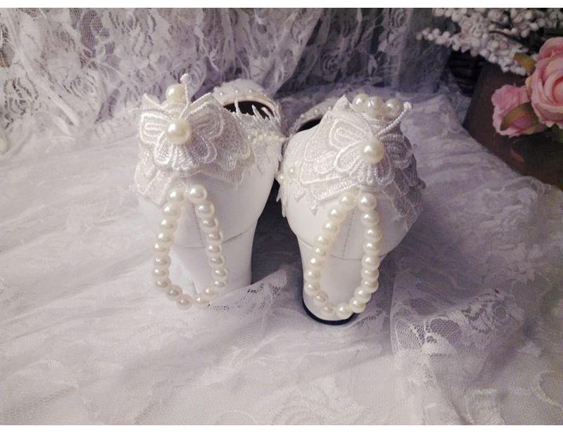 Heel Main 5cm 4 11cm Pleine D'honneur Demoiselle 5cm Talon 3cm Heel De flat wedges Mariage Romantique Coins Mariée 8 Chaussures Lady Heel Perles Bretelles Dentelle 5cm Heel Heel Femme FlKT1Jc
