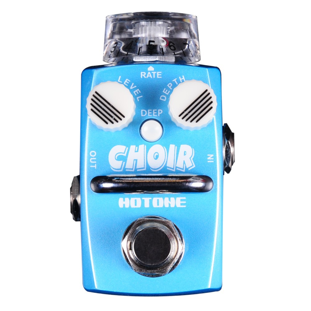 Hotone CHOIR / Analog Chorus Classic Authentic Effect Pedal Electric Guitar Bass True Bypass /Top Grade Fancier Choice hotone grass classic tube overdrive effect pedal electric guitar bass true bypass top grade fancier choice