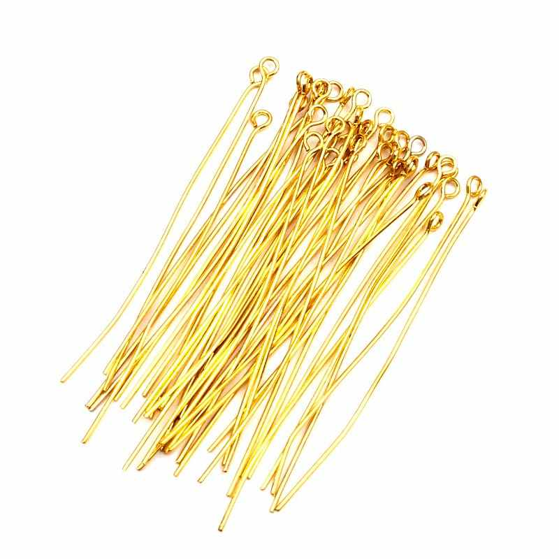 500Pcs Head Pins Eye Pin Jewelry Findings For Necklace Charm Jewelry Making Earrings Decoration DIY Accessories 14-60mm