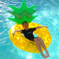 120cm Giant Pineapple Inflatable Swimming Ring Summer Party Pool Float 2