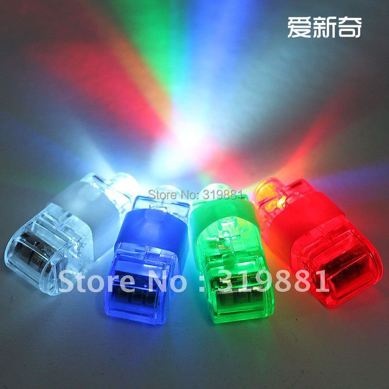 Free Shipping 100pcs/lot LED Party Light Laser Finger Light/Finger Beam Colourful Light Party ...