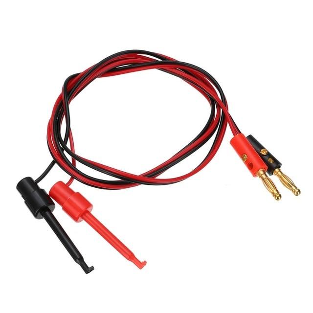 1 paire de prise banane plaquée or | De 4mm pour tester le Clip de crochet, câble de plomb, Mayitr pour les outils de Test de multimètres