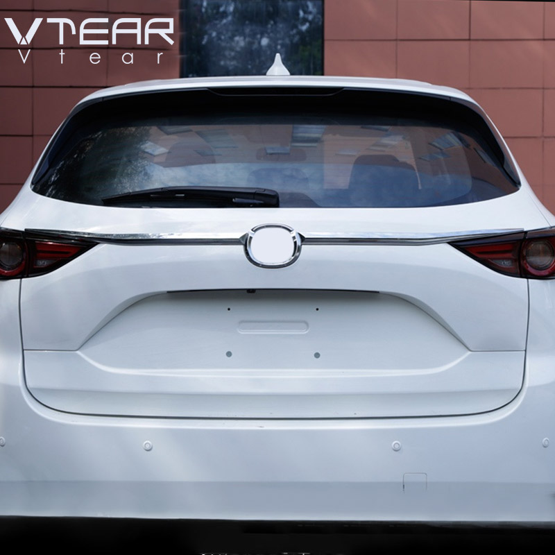 Vtear For Mazda CX-5 CX5 2020-2017 ABS Chrome Car Tailgate Trunk Decoration Strip Exterior Trim Accessories Car Styling(China)