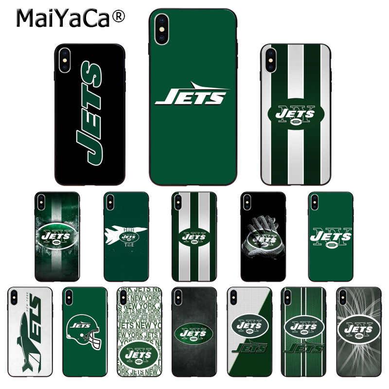 Мягкий силиконовый чехол MaiYaCa New York Jets из ТПУ чехол для iPhone 8 7 6 6S Plus 5 5S SE XR X XS MAX Coque Shell