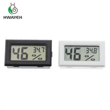 Mini termômetro e hidrômetro digital lcd, sensor medidor de temperatura e umidade digital lcd prático termômetro e higrômetropara
