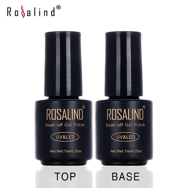 Rosalind Top Coat and Bace Coat Long-lasting Gel Nail Polish UV Gel Polish Long-lasting Soak-off LED UV Gel Color Hot Nail Art