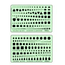 Kim cương Soạn Thảo Template Đá Quý Vẽ Mẫu đối với Trang Sức Nhà Thiết Kế T 777 1 và T 777 2