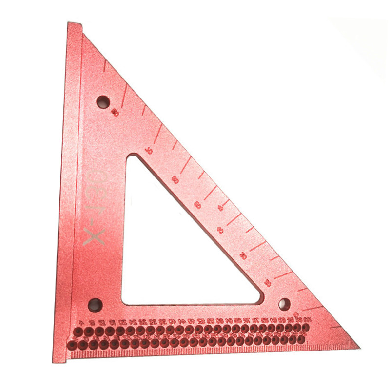 Tools : Woodworking Triangle Line Ruler Hole Scribing Gauge Precision Triangle Scribe Ruler Wood Working Crossed-out Measuring Tool