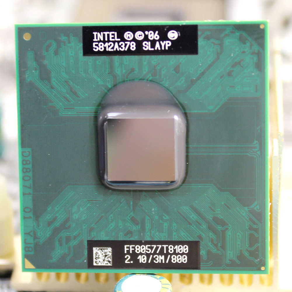 Intel Core 2 Duo T8100 2,1 GHz 3M Cache 800 Dual Socket P Laptop Notebook procesadores CPU