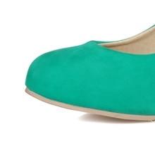 women pumps fashion PU nubuck leather round toe shallow spring autumn high heels single shoes