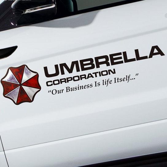 2019 35 90cm Universal Umbrella Corporation Hellaflush Car Styling Reflective Vinyl Sticker Auto Door Refitting Exterior Decor Decal From
