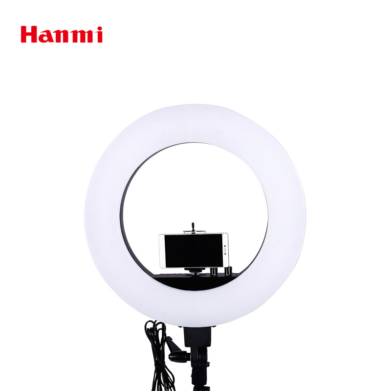 Hanmi New Ring Light of 18 inch 5500K LED Lamp Photo Studio Digital Camera Lamp Photographic Lighting Led Selfie Ring Light