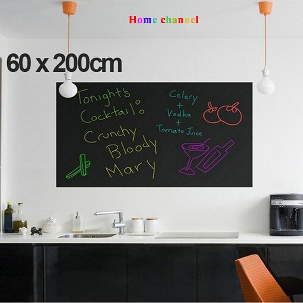 Wall-Stickers-Blackboard-children-drawing-toy-Vinyl-Chalkboard-60200CM-4