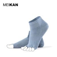 Women S Yoga Socks Cotton Non Slip Summer Socks Five Finger Peep Toe Breathable Meia Pilates