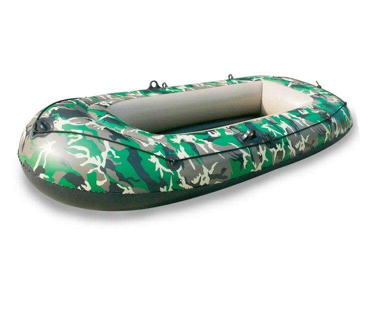 2 personnes Gonflable Bateau Épaissir 0.35mm PVC Camouflage Gonflable Bateau À La Dérive artisanat Kayak Bateau De Pêche Canoë flottant piscine