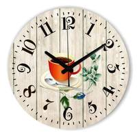 The Coffee Decoration Wall Clock More Silent Warranty 3 Years Fashion Home Decoration Dining Hall Wall