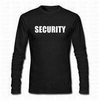 Mode Security Guard Personeel Politie T-Shirt Mannen Vrouwen Event Party grappige Print Casual Lange Mouwen O Hals Tshirt Tees Merk Tops