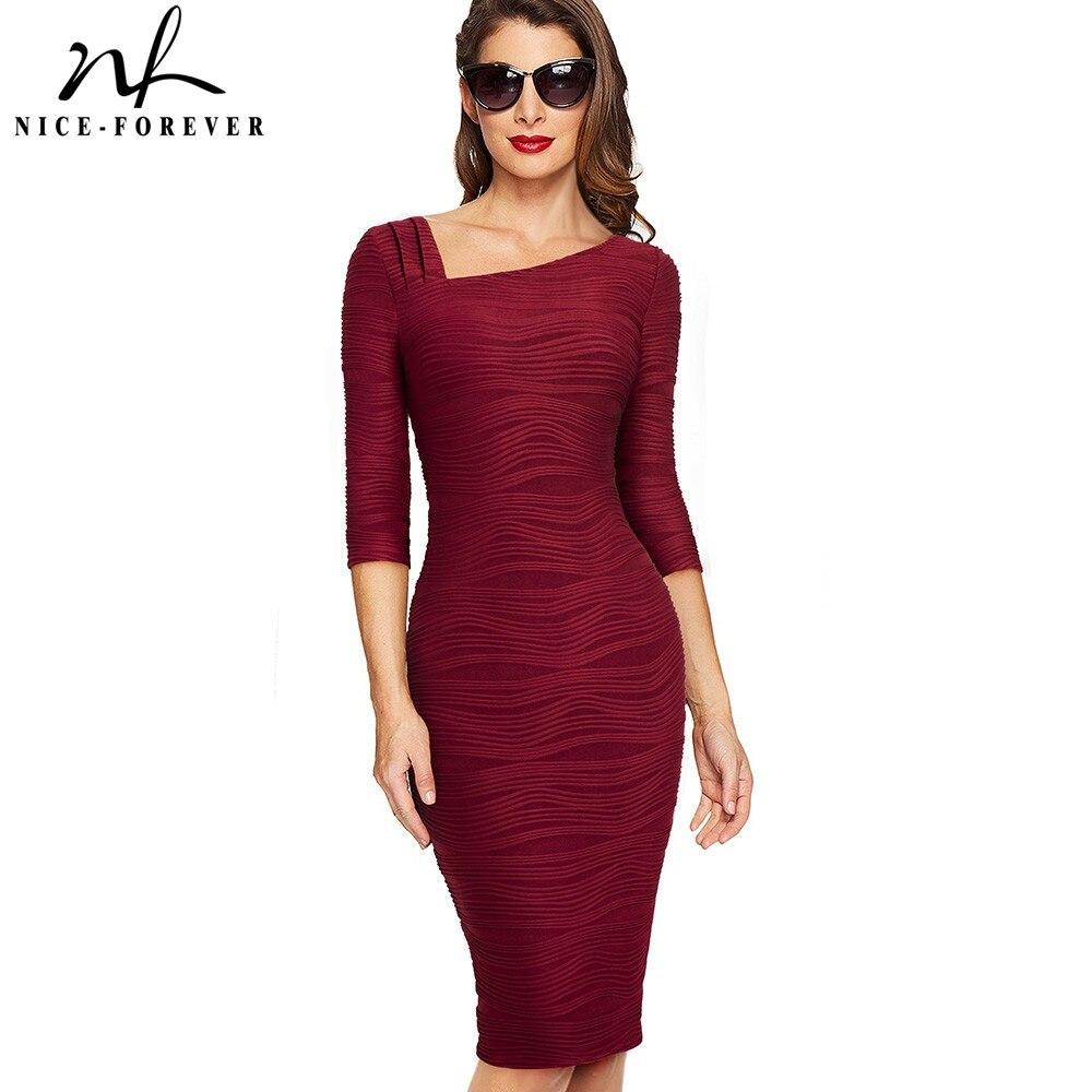 Nice-forever-Elegant-Vintage-Solid-Color-Back-V-Wear-to-Work -vestidos-Business-Party-Bodycon-Office.jpg ad337a5edd86