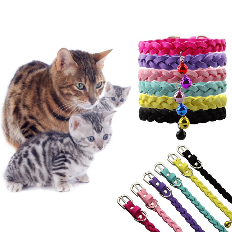 ④Gatos campana Collares conduce softy ajustable gatito marco ...