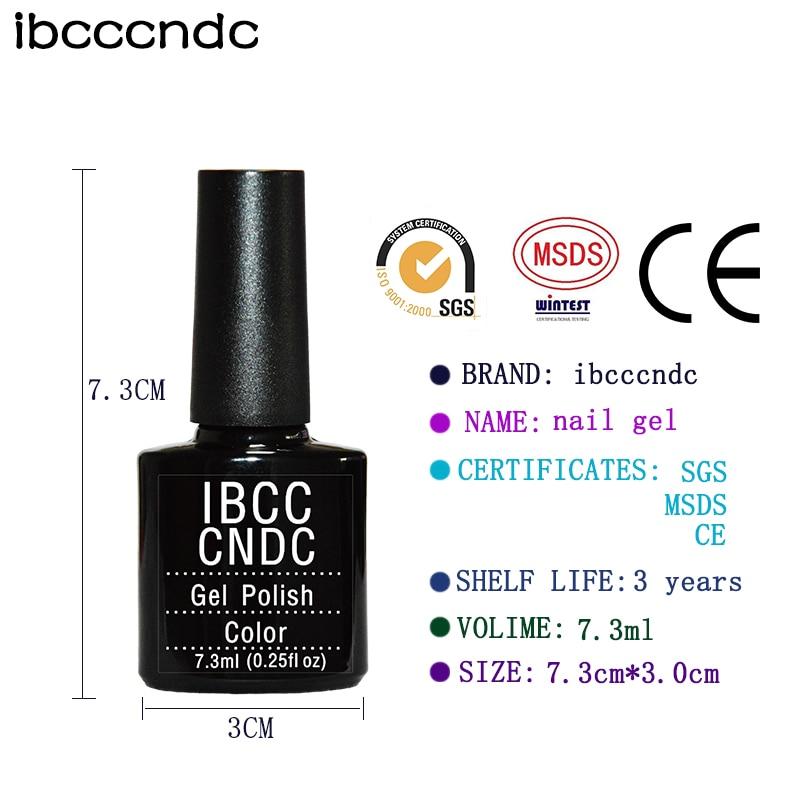 Νέο IBCCCNDC Πολύχρωμο 7.3ml Perfect Nail Gel - Τέχνη νυχιών - Φωτογραφία 3