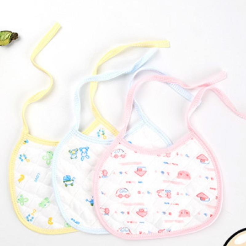 2Pcs Baby Bibs Feeding Stuff Girl Boy Newborn Toddler Accessories For Newborns Nursing Cover Saliva Towel Random Color