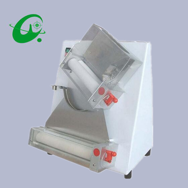 Commercial Pizza Dough Roller Sheeter Making Maker 50~500g dough and 0.5-5.5mm pizza Tickness 15 inch pizza press machine commercial stainless steel pizza dough maker pizza dough forming machine 370w dr 1v ce
