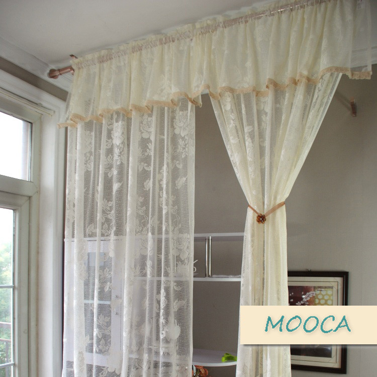 Ivory White Lace Curtain Vintage For Living Room Finished In Curtains From Home Garden On Aliexpress