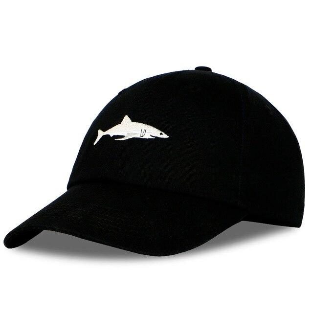 Shark Embroidery Cotton Baseball Cap 5