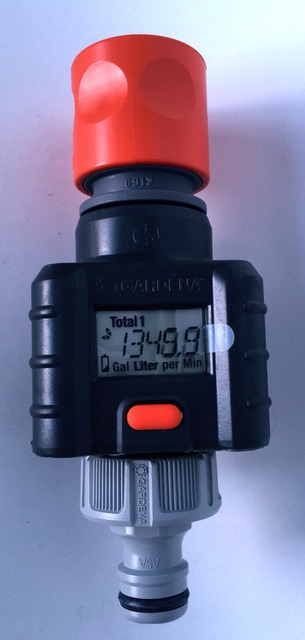 garden hose flow meter. Gardena Digital Electronic Water Smart Flow Meter For Garden Hose Watering
