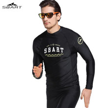SBART  Men Long Sleeve Swimsuit Wetsuits Surfing Suit Swim Shirt Rash Guard Swimwear Wetsuit Swimming Wet