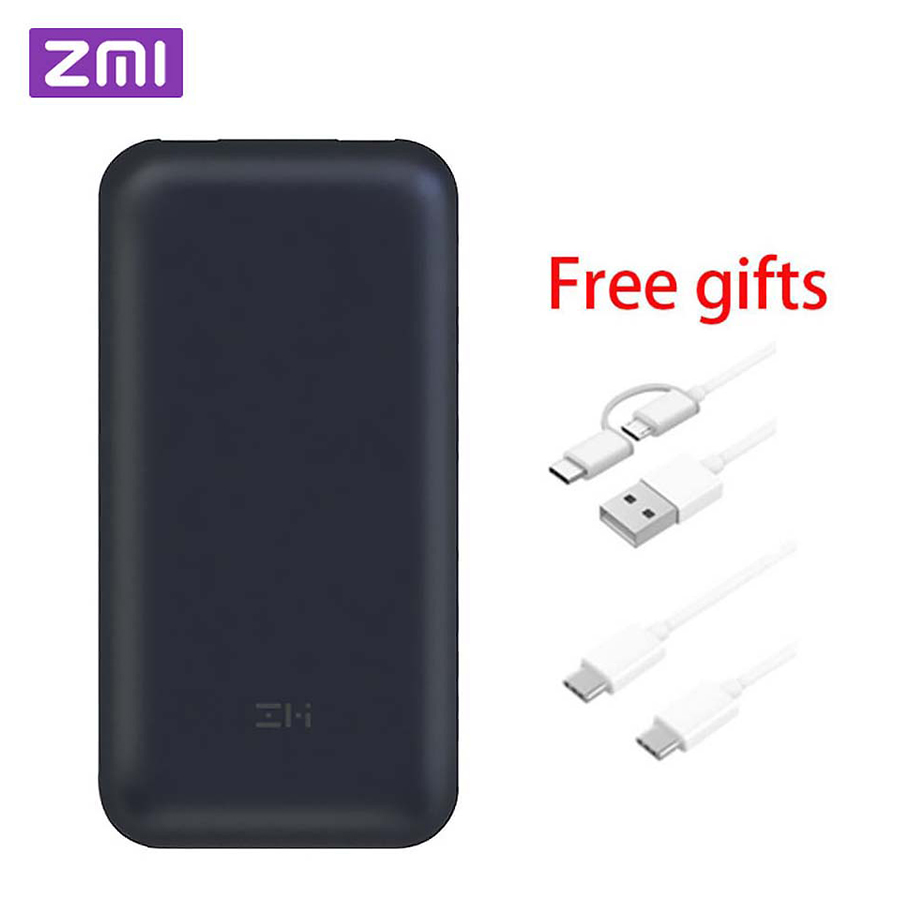 In Stock Xiaomi ZMI 15000/20000mAh USB-C Power Bank USB PD2.0 QB815/QB820 Powerbank Quick Charge 3.0 Type-C for Macbook Laptop аккумулятор xiaomi zmi power bank aura qb821 20000mah white