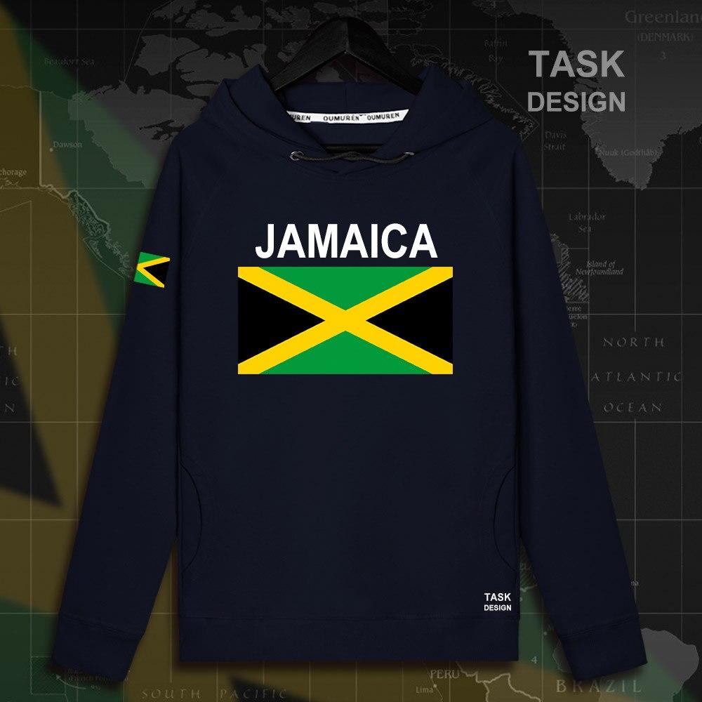 Jamaïque JAM Jamaïcain hommes à capuche pulls hoodies hommes sweat streetwear vêtements hip hop survêtement nation drapeau Printemps nouveau