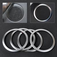 4Pcs Car Styling Chrome Silver Interior Door Stereo Speaker Sound Trim Cover Ring For BMW 3