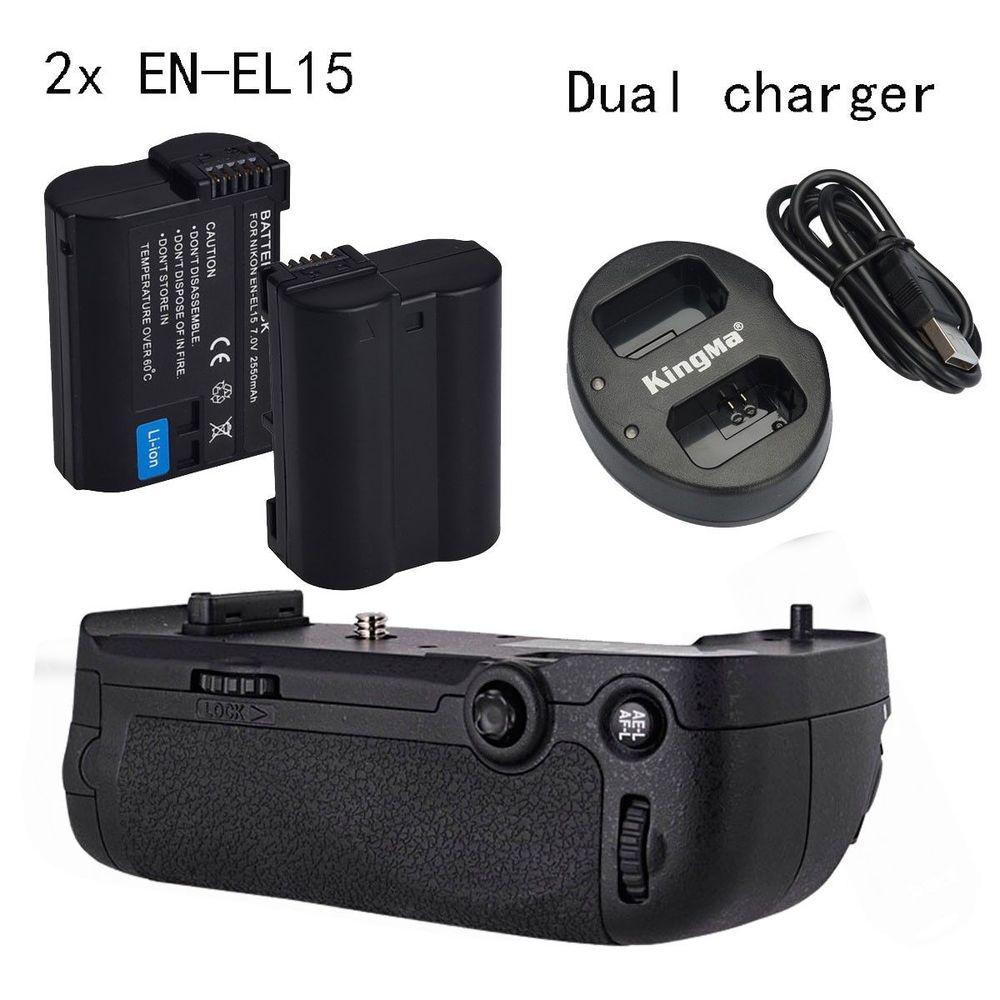 Meike Battery Grip For Nikon D600 D610 Camera as MB D14 2 EN EL15 Dual charger