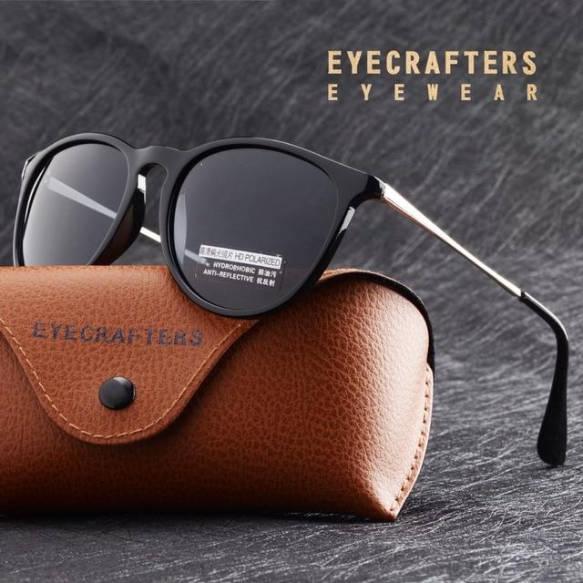 cb5d60131e2 Womens Retro Vintage Cat Eye Sunglasses Female Fashion Mirrored Eyewear  Eyecrafters Silver Brand Designer Polarized Sunglasses