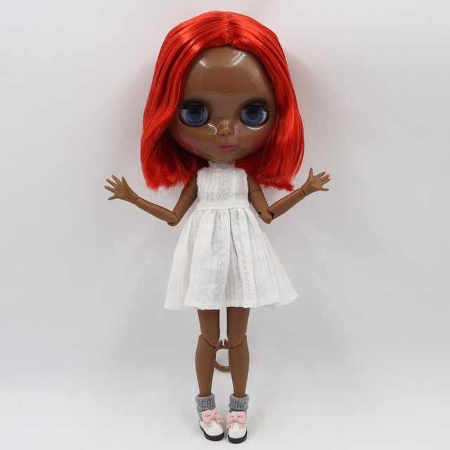Factory Neo Blythe Doll Short Red Hair Jointed Body 30cm