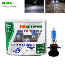 XENCN HB3 9005 12V 60W 5300K Blue Diamond Light Car Bulbs Headlight Halogen Lamp for bmw e36  land rover mitsubishi asx bmw x5