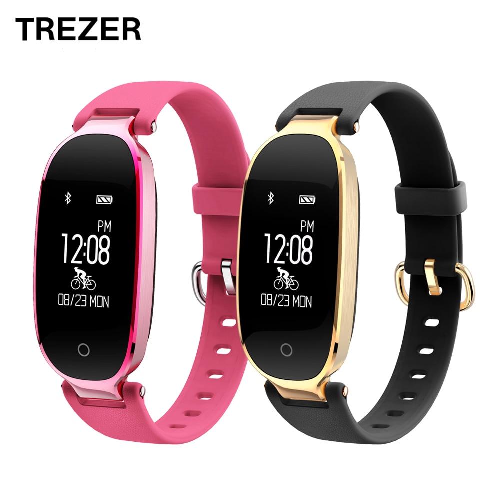 TREZER S3 Bluetooth Relógio Inteligente Moda Mulheres Senhoras de Fitness Monitor de Freqüência Cardíaca Rastreador À Prova D' Água relógio Inteligente para Android IOS