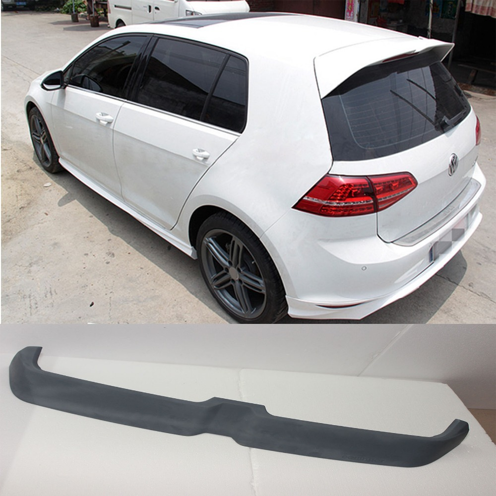 Golf 7 Unpainted FRP Gray Auto Rear Roof Spoiler Wing For Volkswagen VW Golf 7 MK7 2014 O Style