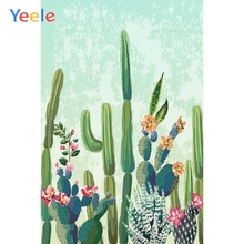 Yeele Blooming Cactus Faded Green Gradient Dreamy Baby Photography Background Customized Photographic Backdrops for Photo Studio