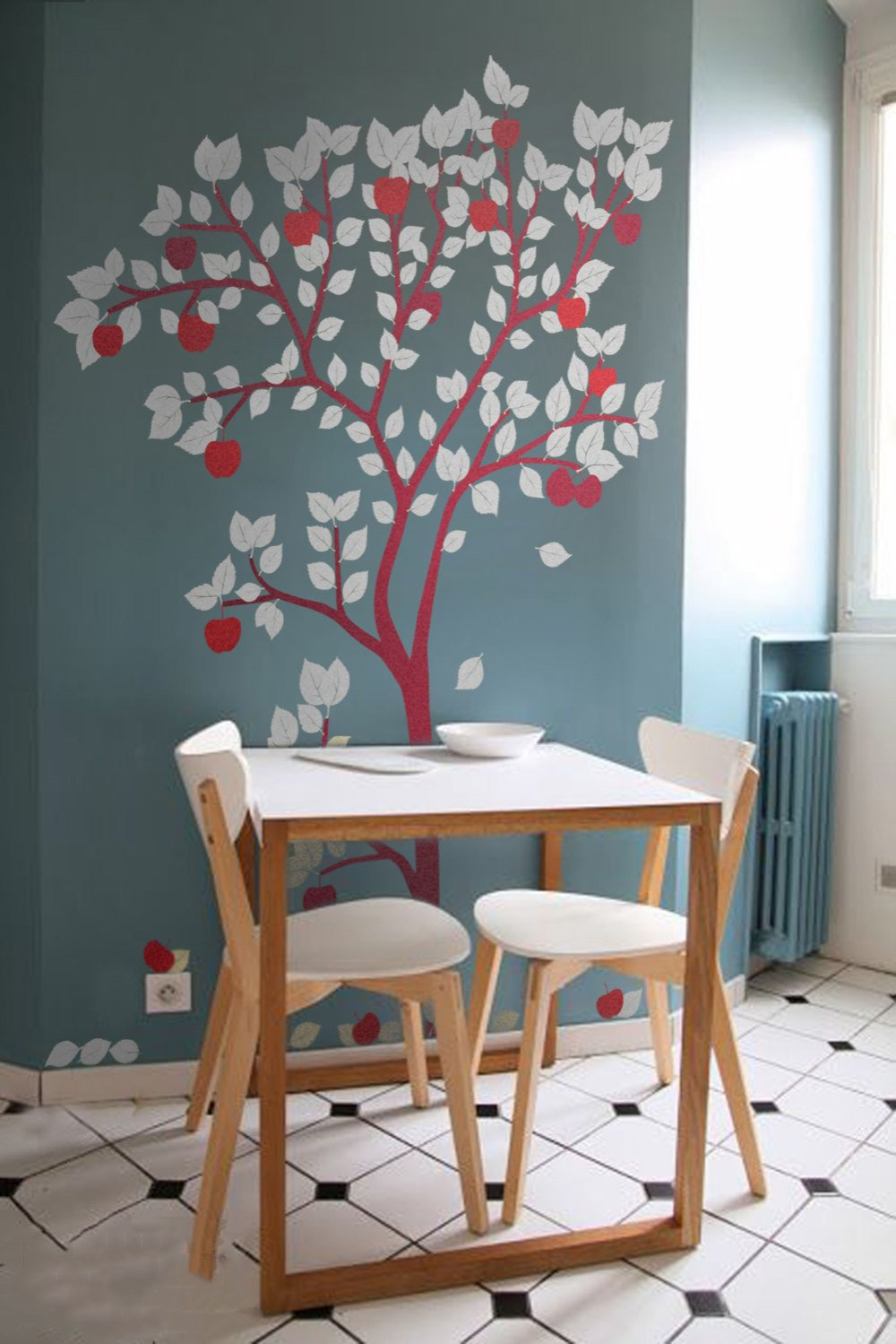 Large Apple Tree Wall Decal Wall Sticker For Nursery Tree ...