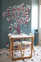 Large Apple Tree Wall Decal Wall Sticker For Nursery Tree Decor Vinyl DIY Tree Decals with apple Art Home Wall Decoration LC1062