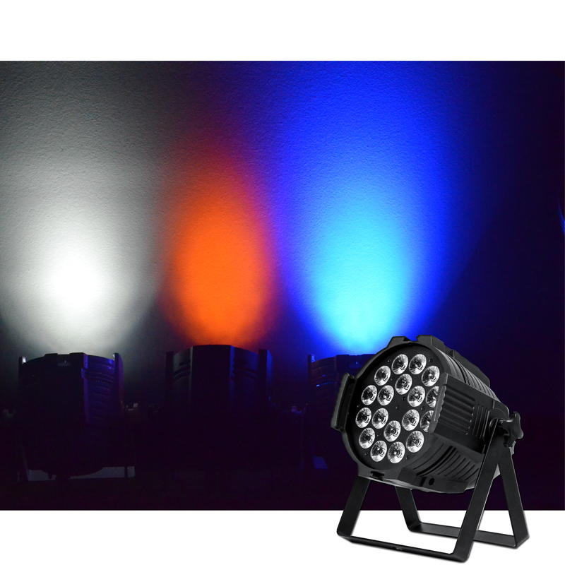 Promotion Rasha DMX LED Par Light 18x12W RGBW Quad 4in1 Color Home Party Lights DJ Equipment Stage Effect Beam Light Powercon