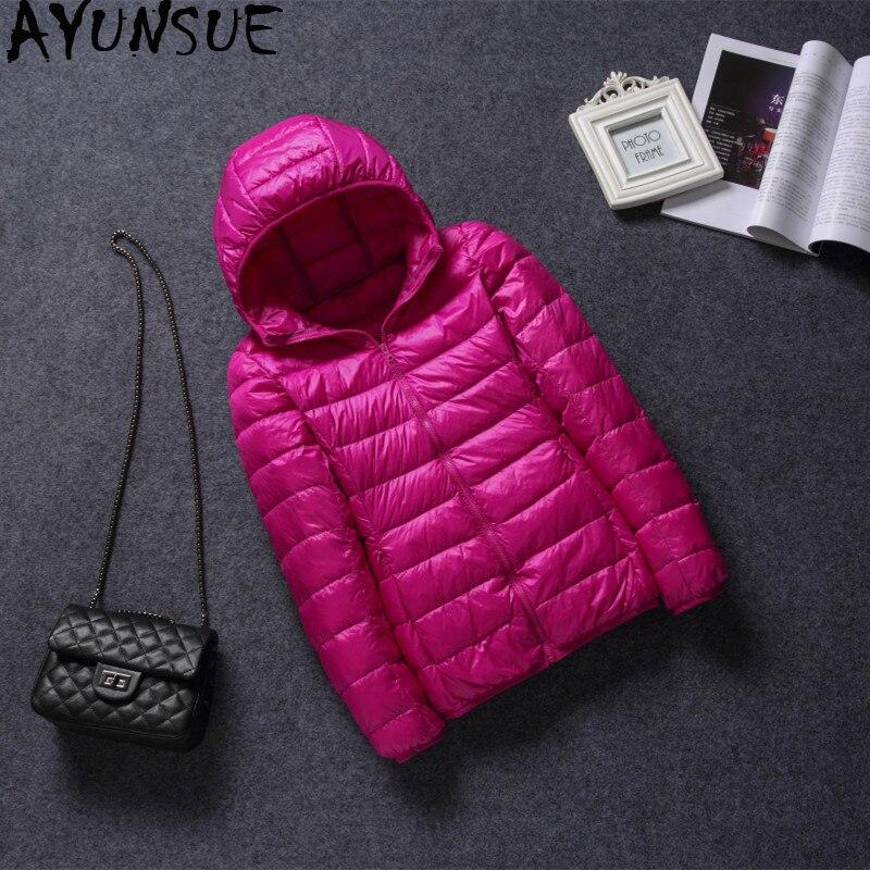 AYUNSUE Ultra Light Down Jacket Women Plus Size Korean Winter Coat Women  Parkas Mujer 2018 Jackets f3a5e2fa6e9f